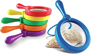Learning Resources Jumbo Magnifiers, Exploration Play, Set of 6 Magnifiers, Ages 3+