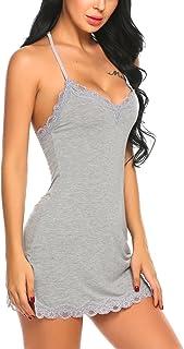Avidlove Slip Lingerie Sexy Chemise Nightgown Babydoll Soft Sleepwear S-XXL