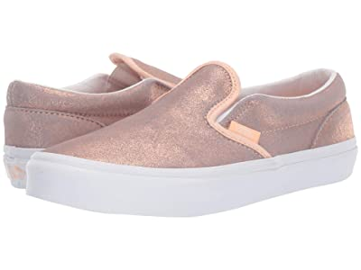 Vans Kids Classic Slip-On (Little Kid/Big Kid) (Rose Gold/Rose Gold) Girls Shoes