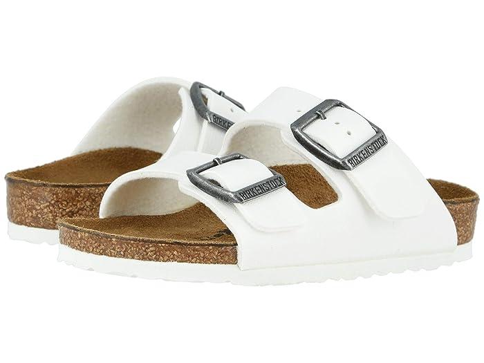 Birkenstock Kids  Arizona (Toddler/Little Kid/Big Kid) (White/White) Girls Shoes