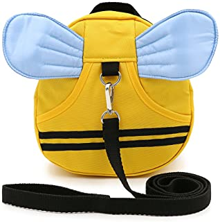 Hipiwe Baby Walking Safety Harness Reins Kid Toddler Strap Backpack Child Safety Harness Assistant with Leash Bee Backpack...