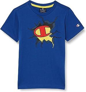 Champion Seasonal Graphic Shop Comics Crewneck T-Shirt Bambino