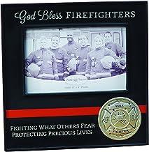إطار مطبوع عليه عبارة God Bless Firefighters من Abbey Gift