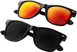 IVOZZO - Sunglasses 2 pack Men Women Polarized UV400 Mirrored Lens Stylish