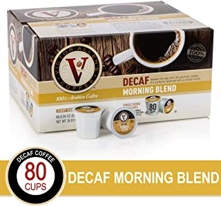 Decaf Morning Blend for K-Cup Keurig 2.0 Brewers, Victor Allen's Coffee Light Roast Single Serve Coffee Pods, 80 Count