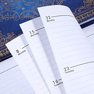 """2021-2022 Planner - Weekly & Monthly Planner with Monthly Tabs, July 2021 - June 2022, 6.3"""" x 8.4"""", Hardcover Lea"""