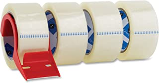 Sparco Packing Tape, with Dispenser, 3 Inches Core, 3.0mil, 2 x 55 Yards, 4 per Pack, CL (SPR64011)