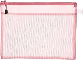 Apple 756A H102 Plastic Zipper File, A4 Size - Pink