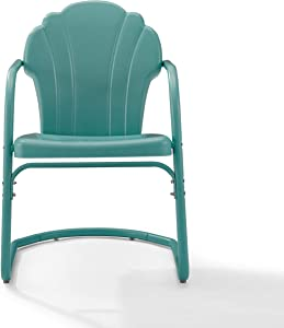 Crosley Tulip 2Pc Chair Set Pastel Blue Satin