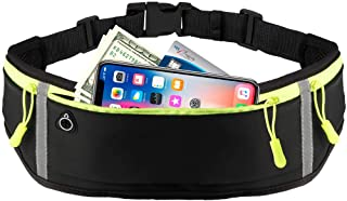 Running Belt Fanny Pack Essential for Runners,Phone Holder Fitness Workout Exercise Waist Pouch Bag for iPhone Xs Max in Biking Walking Hiking Gym Sports