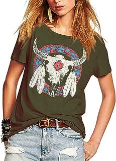 Women's Street Style Printed T-Shirts Short Sleeve Loose Tops Tee Shirt