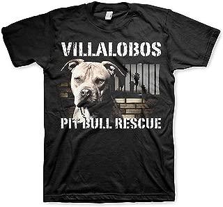 Qukkran Mens Villalobos Rescue Center Pit Bull Rescue Inspired T-Shirt