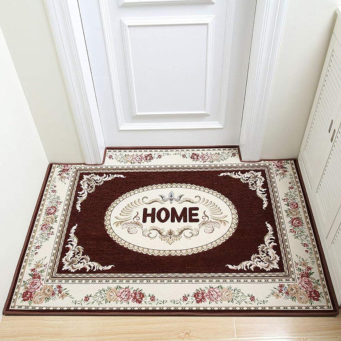 クローゼットコンデンサー周辺な 玄関 戻る, 滑り止め ホーム 区域敷物 食品 簡単 きれい 耐汚染性 持続可能です の 屋内 出入り口 床マット-ブラウン 70x140cm