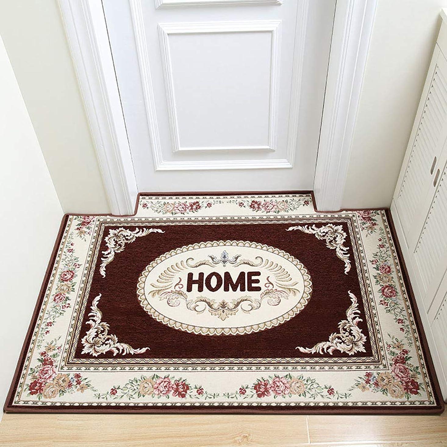 政策会計士歴史な 玄関 戻る, 滑り止め ホーム 区域敷物 食品 簡単 きれい 耐汚染性 持続可能です の 屋内 出入り口 床マット-ブラウン 50x80cm
