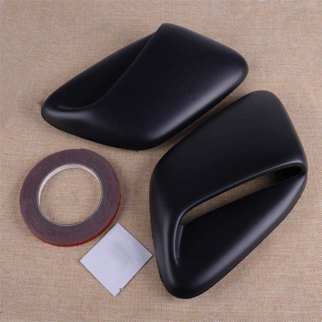 KENZAVO CITALL 2PCS Black Plastic Max 61% OFF Limited time cheap sale Induction Scoop Hood Fit Vent