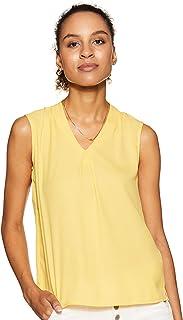 Amazon Brand - Symbol Women's Solid Regular Fit Sleeveless Top