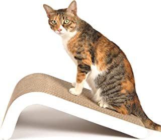4CLAWS Incline Scratching Pad (White) - Basics Collection Cat Scratcher