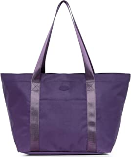 Nylon Family Travel Tote Beach Bag with Zipper for Women, Teacher or Nurse (Purple)