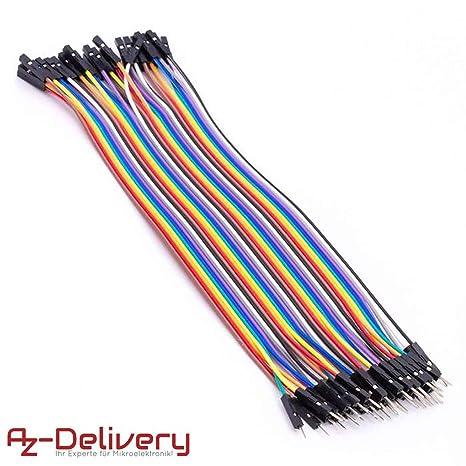 Azdelivery Jumper Wire Kabel 20 Cm F2m Female To Male Kompatibel Mit Arduino Und Raspberry Pi Breadboard Gewerbe Industrie Wissenschaft