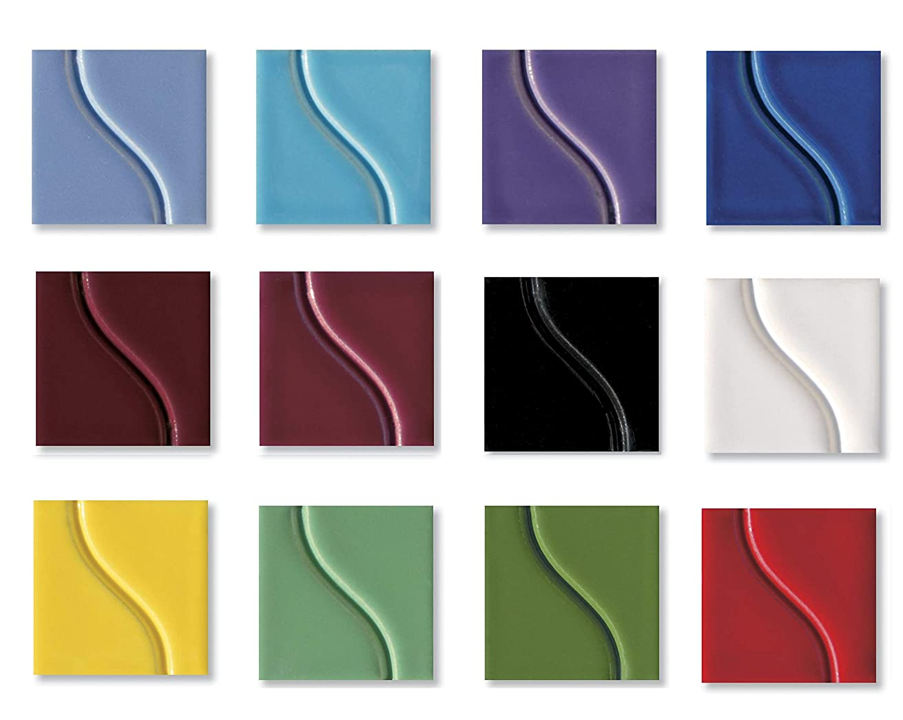 Sax True Flow Gloss Glaze Set, Assorted Gloss Colors, Set of 12 Pints