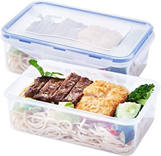[2 Pack] Plastic Food Storage Containers, BPA-Free Food Containers Sets with Lids Meal Prep Container, Airtight Food Containers for Kitchen, 38.9oz/1150ml/4.7cup