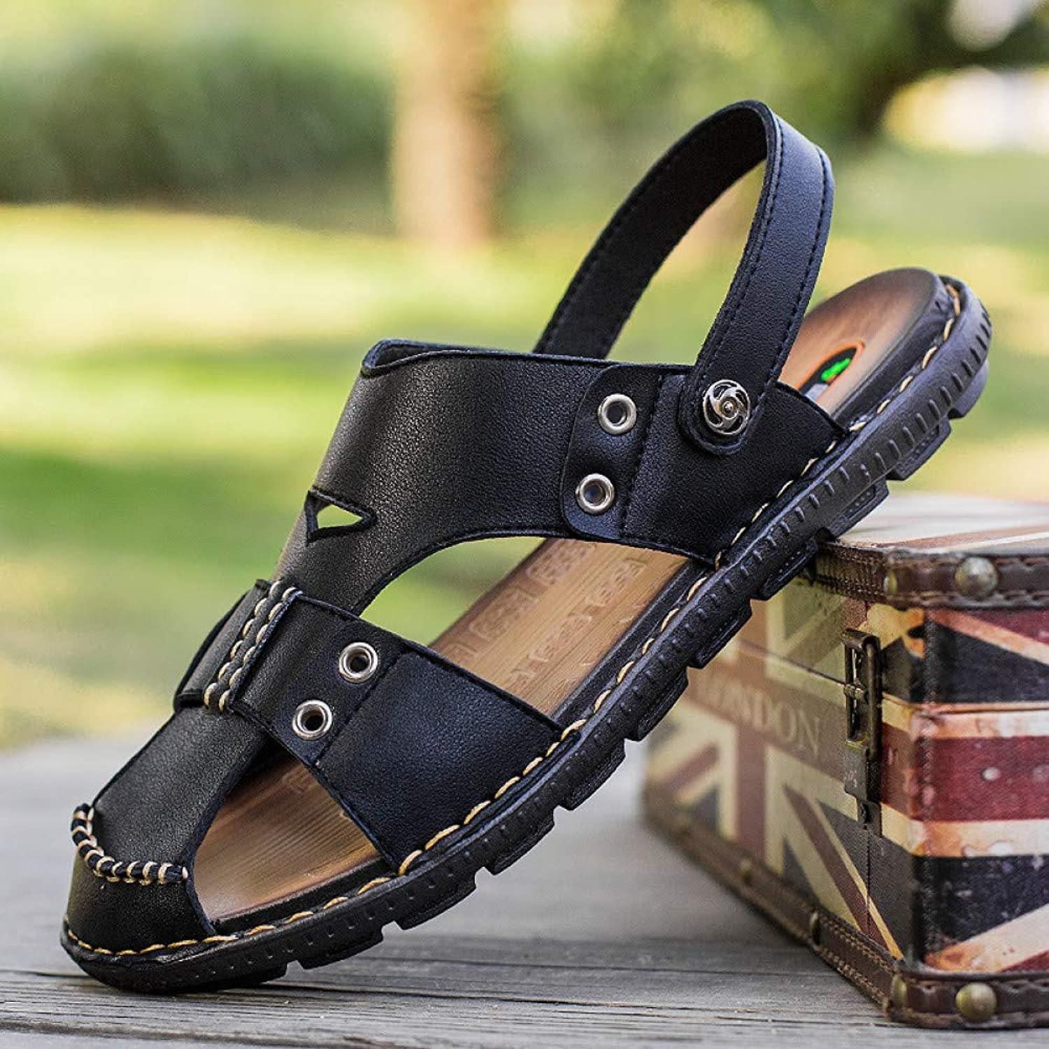 GJLIANGXIE Men'S Sandals Sandals Outdoor Beach Vacation Men'S Sandals Korean Version Of The Breathable British Casual Trend Of The Beach shoes Sandals And Slippers