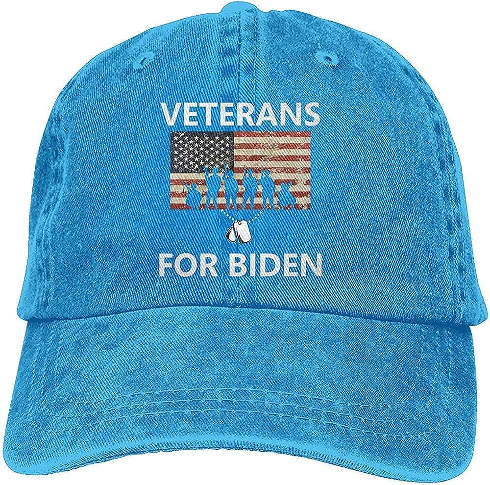 Fashion Veterans for Joe Biden Unisex Baseball Cap Adjustable Comfortable Cowboy Hat Black