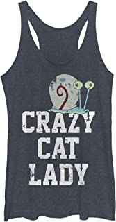 Spongebob Squarepants Women's Gary Crazy Cat Lady Racerback Tank Top