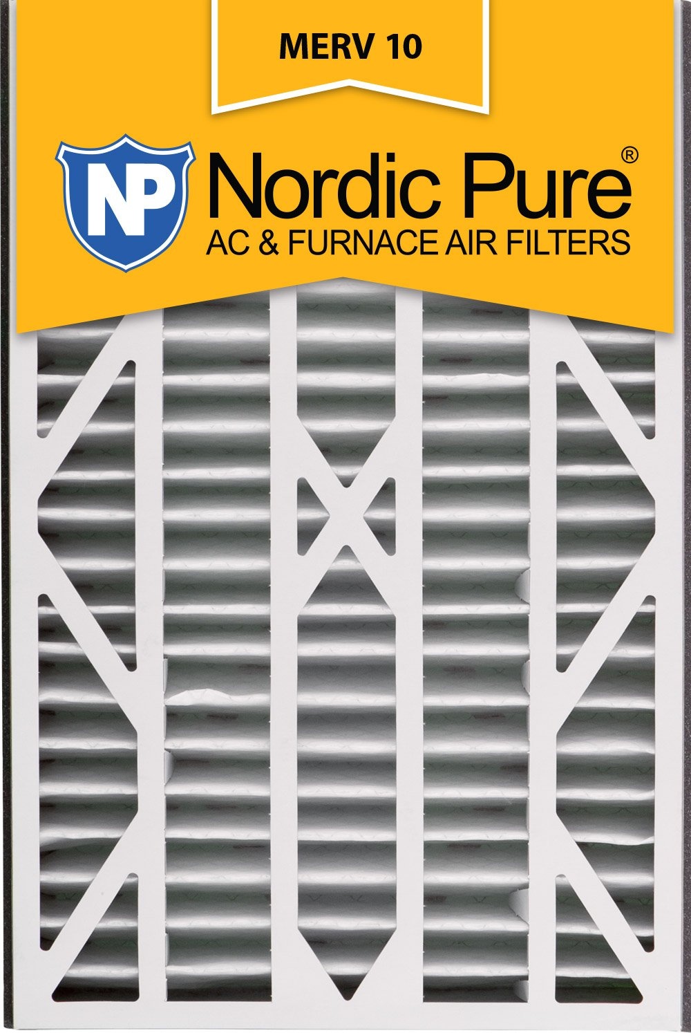 Nordic Pure 16x25x3ABM10-1 Merv 10 AC 炉灶过滤器