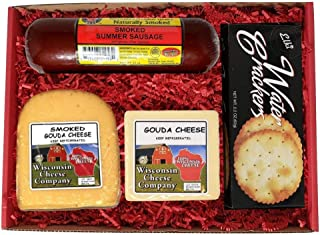 WISCONSIN'S BEST & WISCONSIN CHEESE COMPANY'S, Wisconsin Deluxe Classic Specialty Gouda Cheese & Cracker Gift Box | 100% W...