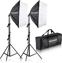 Neewer 700W Pro Fotografía Kit de Iluminación de Luz Softbox   – 2 Packs 60×60 centímetros Softbox con Zócalo E27 para Retratos de Estudio Fotográfico, Fotos de Productos y Videos