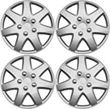 Wheel Covers 16in Hub Caps SIlver Rim Cover - Car Accessories for 16 inch Wheels - Snap On Hubcap, Auto Tire Replacement Exterior Cap Set of 4 16 inch Hubcaps Best for 2014-2016 Toyota Camry