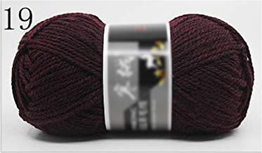Kriser 100G / Bola 125 Metros Merino Lana de Punto Crochet Hilo de Jersey Bufanda suéter, 19