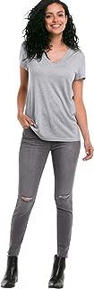 Ellos Women's Plus Size Ripped Knee Skinny Jeans