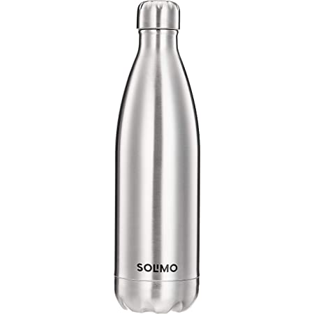 Amazon Brand - Solimo Stainless Steel Insulated 24 Hours Hot or Cold Bottle Flask, 1000 ml, Silver