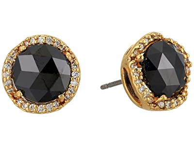 Kate Spade New York That Sparkle Pave Round Large Studs Earrings (Jet) Earring