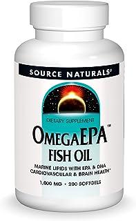 Source Naturals OmegaEPA Fish Oil - Marine Lipids with EPA & DHA Supports Cardiovascular & Brain Health - 200 Softgels