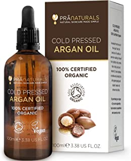 PraNaturals Aceite de Argán Marroquí 100% Orgánico Puro y Natural para Cara y Cuerpo - Rico en Vitamina E para una Piel C...