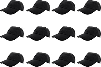 Gelante Baseball Caps 100% Cotton Plain Blank Adjustable Size Wholesale LOT 12 Pack
