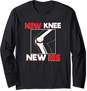 Knee Surgery Recover Quote Gift - New Me Long Sleeve T-Shirt