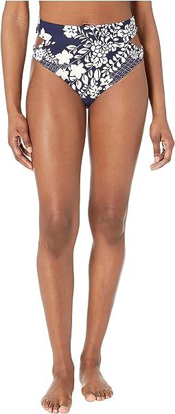 Zen Garden High-Waist Cut Out Bikini Bottoms