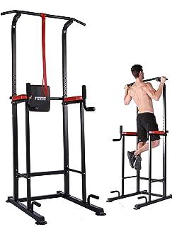 Fityou 懸垂マシン ぶら下がり健康器 マルチジム2020年最新版 多機能筋力トレーニング器具 背筋 腹筋 大胸筋 耐荷重150kg [メーカー1年保証]