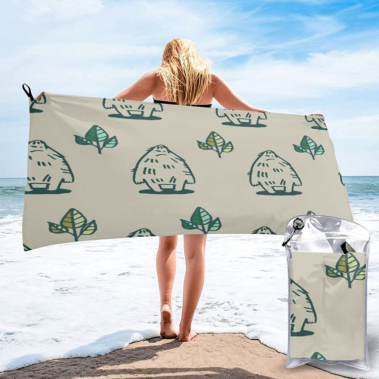 Cartoon Funny Monsters Microfibre Max 47% OFF Pool New Orleans Mall Quick Beach Towels Travel