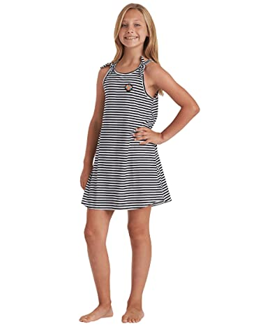 Billabong Kids Beach Song Tee Dress (Little Kids/Big Kids) (White/Black) Girl