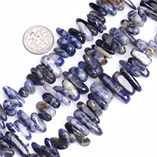 """Joe Foreman 15"""" Fang Stick Gemstone Beads Strand Various Materials Size and Color 18-20mm (Sodalite) Blue"""