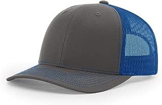 Twill Mesh Back Trucker Snapback Hat -- Charcoal/Royal