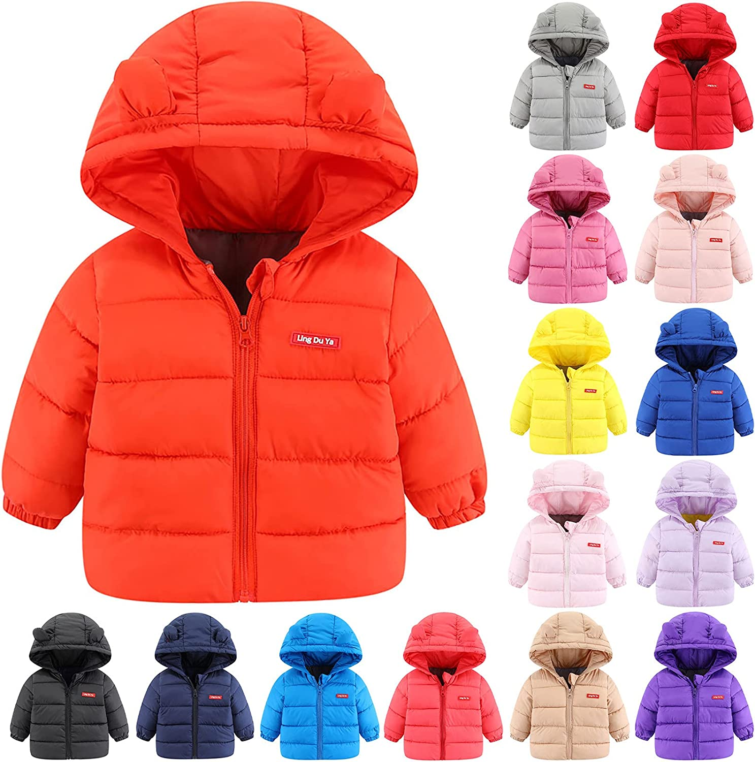 Baby Girls Boys Winter Coats Cute Gifts Manufacturer direct delivery Light Puffer Bear Cotton Warm