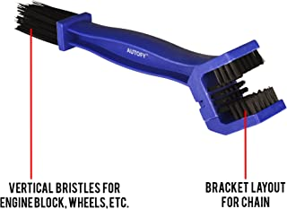 Autofy Universal Motorcycle/Cycle Chain Cleaner Brush for Bikes (Blue)