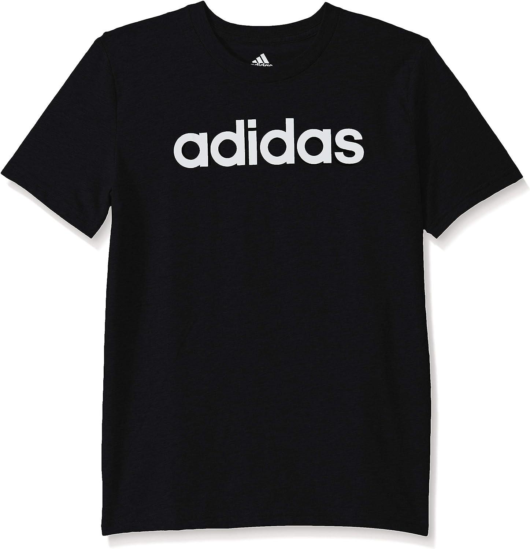adidas Boy's Big Short Sleeve Cotton Script Logo T-Shirt