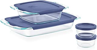 Pyrex Grab Glass Bakeware and Food Storage Set, 8-Piece, Clear